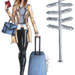 travel queen travel destinations Berit Schulze bs Illustration Dresden Rio New York
