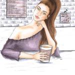 coffee Kaffee cafe bs Illustration Berit Schulze