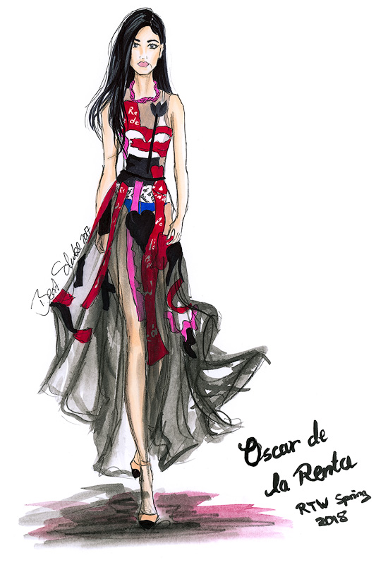 Oscar de la Renta BS Illustration Berit Schulze