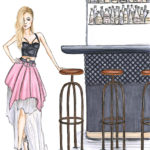 grunge girl party party night dressing up bar bartender
