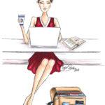 Harvard girl business entrepreneur bs Illustration