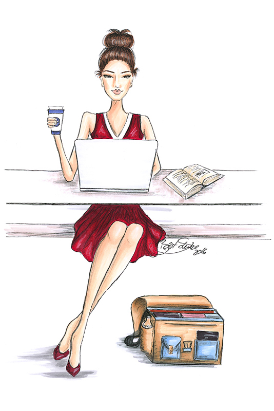 Harvard girl business entrepreneur bs Illustration