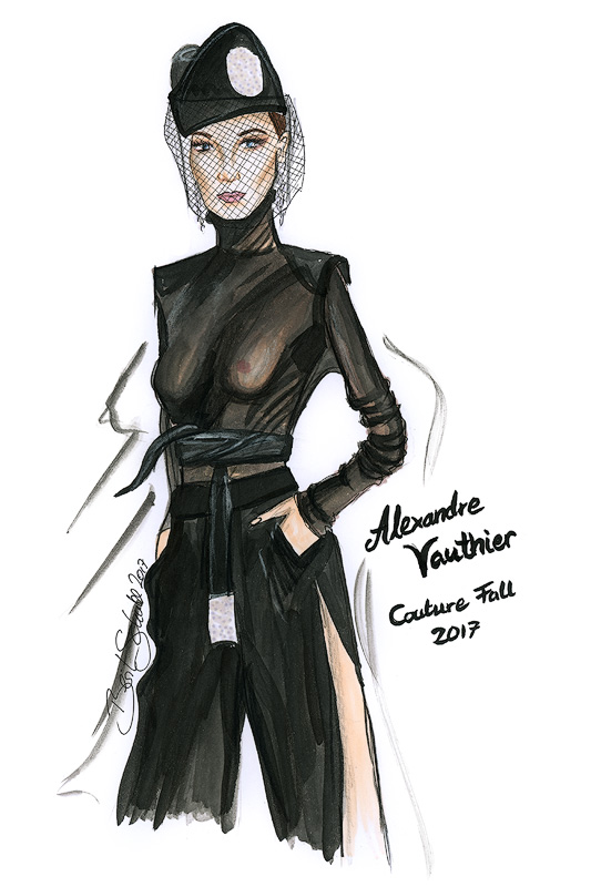 Alexandre Vauthier bs Illustration Berit Schulze Couture