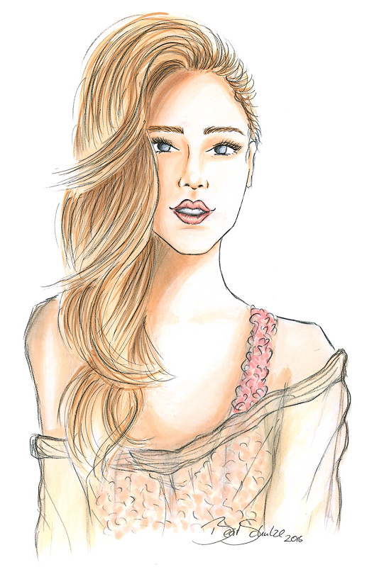 Chiara bs Illustration Copic Berit Schulze blonde