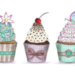muffin cupcakes BS Illustration Berit Schulze