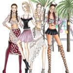 festival girls Riesenrad cochella BS Illustration Berit Schulze