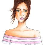 Copicart Berit Schulze BS Illustration Fashion Blogger Mode Influencer fashion girl Zeichnung Modezeichnung Fashion Illustration Copic Marker