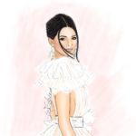 Procreate digitale Illustration Modezeichnung Modeillustration Fashion Illustration Berit Schulze BS Illustration Hochzeitsillustratorin Braid Kendall Jenner