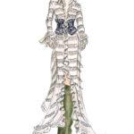 Zimmermann Fashionshow Berit Schulze BS Illustration Copicmarker Copic weises Kleid green boots Zeichnung grüne Stiefel